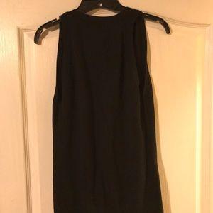 Sweaters - Black sleeveless cardigan sweater in XS